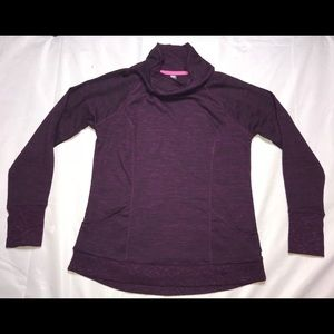 RBX Purple cowlneck pullover athletic top